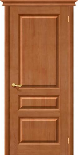 Дверь межкомнатная из массива сосны М5 светлый лак без стекла