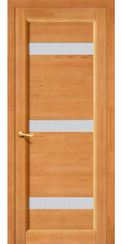 Межкомнатная дверь из массива со стеклом Вега светлый орех тон 30