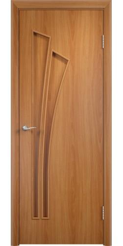 Межкомнатная дверь ламинированная Ветка ПГ миланский орех