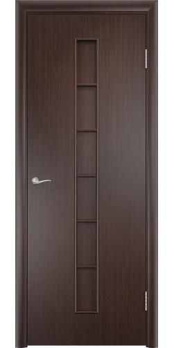 Дверь межкомнатная глухая Лесенка цвет венге