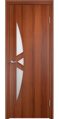 Межкомнатная дверь со стеклом Соната итальянский орех