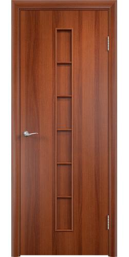 Дверь межкомнатная глухая Лесенка цвет итальянский орех