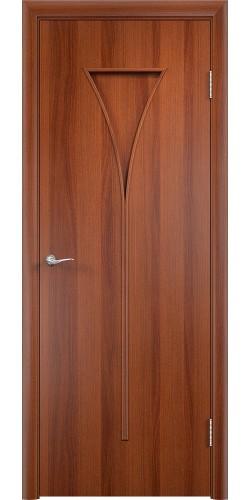 Межкомнатная дверь ламинированная Рюмка ПГ итальянский орех