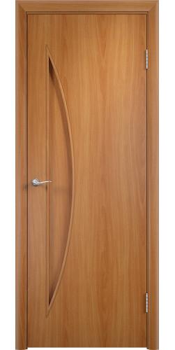 Дверь межкомнатная глухая Парус цвет миланский орех