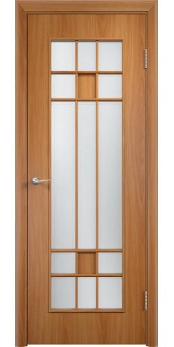 Межкомнатная дверь ламинированная со стеклом Премиум миланский орех