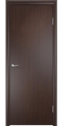 Дверь межкомнатная глухая Гладкая цвет венге