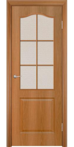 Дверь межкомнатная со стеклом Палитра цвет миланский орех