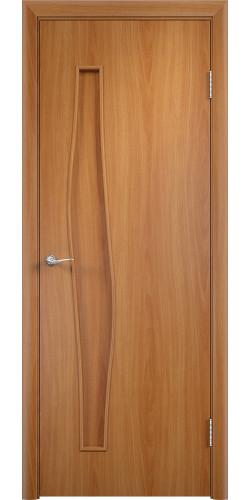 Межкомнатная дверь ламинированная Волна ПГ миланский орех