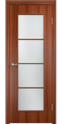 Межкомнатная дверь ламинированная со стеклом Верона итальянский орех