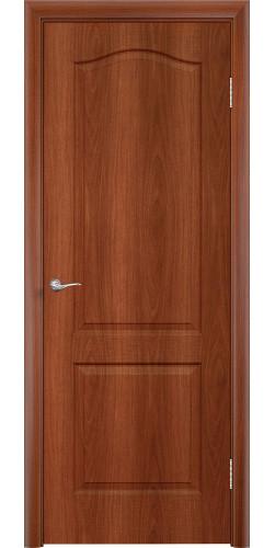 Дверь межкомнатная глухая Палитра цвет итальянский орех