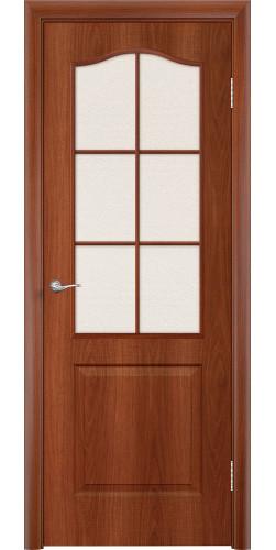 Дверь межкомнатная со стеклом Палитра цвет итальянский орех