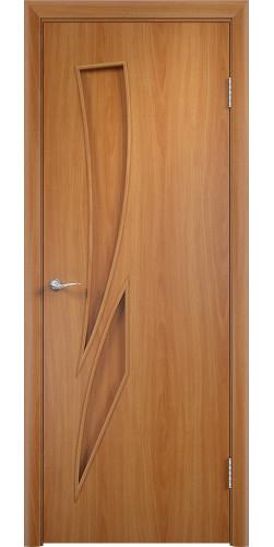 Межкомнатная дверь ламинированная Стрелиция ПГ миланский орех