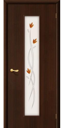 Дверь межкомнатная со стеклом 22х цвет венге