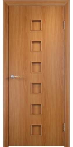 Межкомнатная дверь ламинированная Квадраты ПГ миланский орех