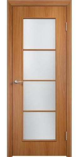 Межкомнатная дверь ламинированная со стеклом Верона миланский орех