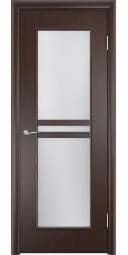 Межкомнатная дверь со стеклом Сильвия венге