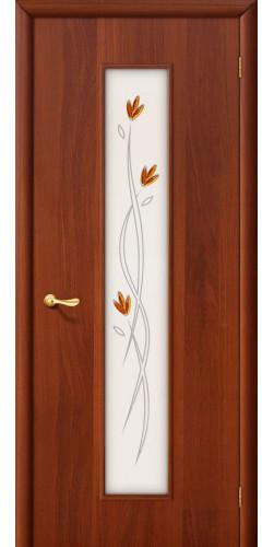 Межкомнатная дверь со стеклом 22х итальянский орех