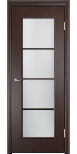 Межкомнатная дверь ламинированная со стеклом Верона венге