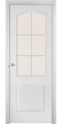 Дверь межкомнатная со стеклом Палитра цвет белый