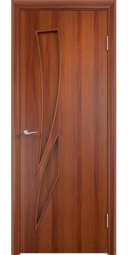 Межкомнатная дверь ламинированная Стрелиция ПГ итальянский орех