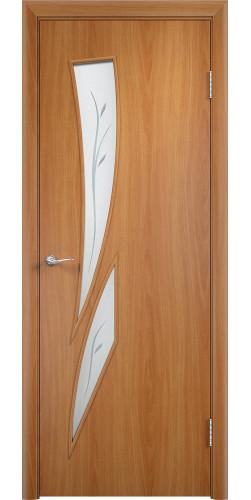 Дверь межкомнатная со стеклом Стрелиция цвет миланский орех