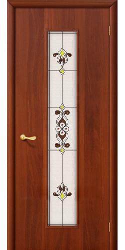 Дверь межкомнатная со стеклом 23х цвет итальянский орех