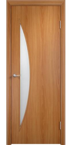 Межкомнатная дверь ламинированная со стеклом Парус миланский орех