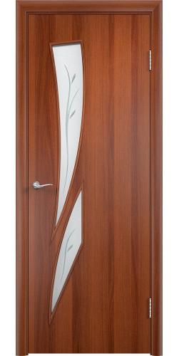 Дверь межкомнатная со стеклом Стрелиция цвет итальянский орех