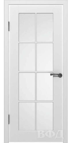 Дверь межкомнатная эмаль Порта со стеклом цвет белый