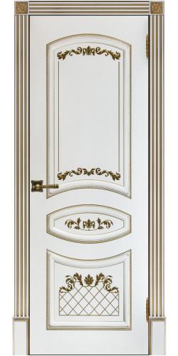 Дверь межкомнатная эмаль глухая Алина 2 цвет белый