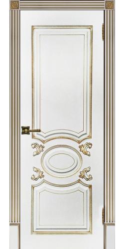 Межкомнатная дверь шпонированная Аристократ ПГ белая эмаль