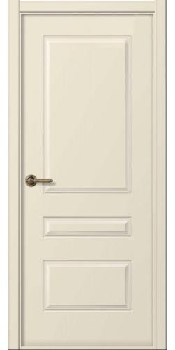 Дверь межкомнатная эмаль глухая Роялти цвет слоновая кость