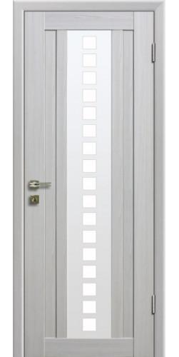 Дверь межкомнатная экошпон со стеклом 16Х цвет Эшвайт мелинга