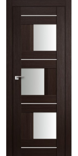 Дверь межкомнатная экошпон со стеклом 13Х цвет венге мелинга
