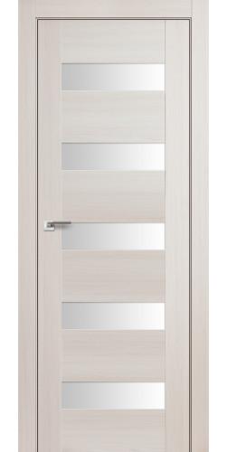 Дверь межкомнатная экошпон со стеклом 29Х цвет эш вайт мелинга