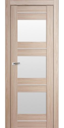 Дверь межкомнатная экошпон со стеклом 41Х цвет капучино мелинга