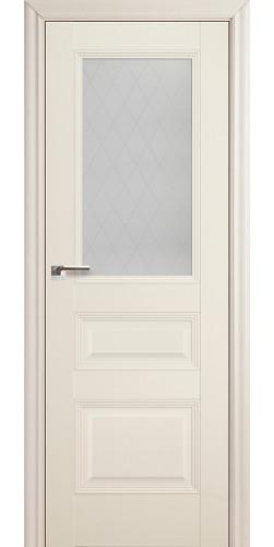 Дверь межкомнатная экошпон со стеклом 67Х цвет эш вайт