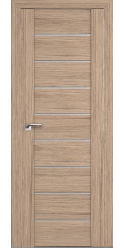 Дверь межкомнатная экошпон со стеклом 98XN цвет салинас светлый
