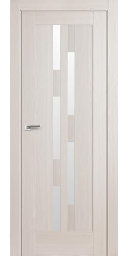 Дверь межкомнатная экошпон со стеклом 30Х цвет эш вайт мелинга