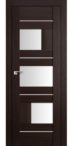 Дверь межкомнатная экошпон со стеклом 39Х цвет венге мелинга