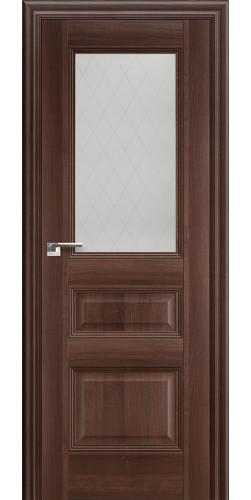 Дверь межкомнатная экошпон со стеклом 67Х цвет орех сиена