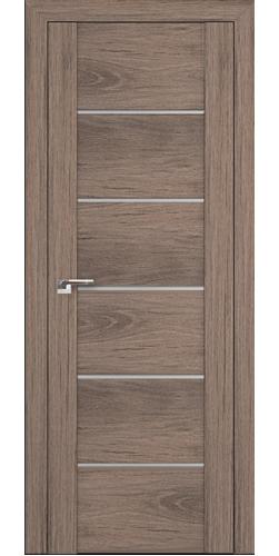 Дверь межкомнатная экошпон со стеклом 99XN цвет салинас темный