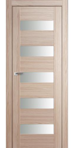 Дверь межкомнатная экошпон со стеклом 29Х цвет капучино мелинга