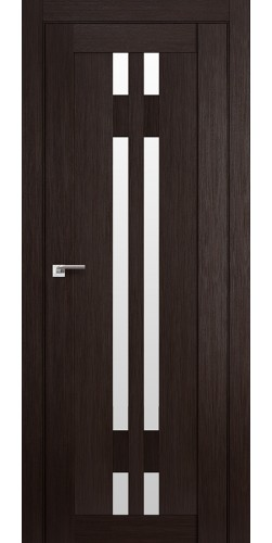 Дверь межкомнатная экошпон со стеклом 40Х цвет венге мелинга