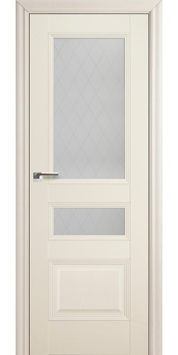 Дверь межкомнатная экошпон со стеклом 68Х цвет эш вайт