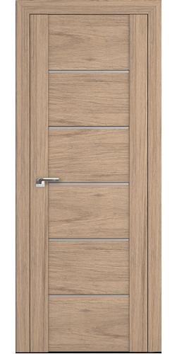 Дверь межкомнатная экошпон со стеклом 99XN цвет салинас светлый