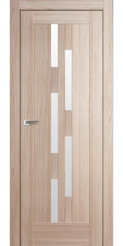 Дверь межкомнатная экошпон со стеклом 30Х цвет капучино мелинга