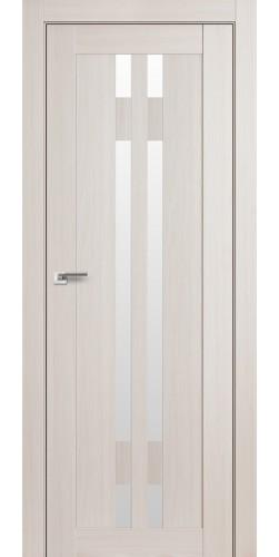 Дверь межкомнатная экошпон со стеклом 40Х цвет эш вайт мелинга
