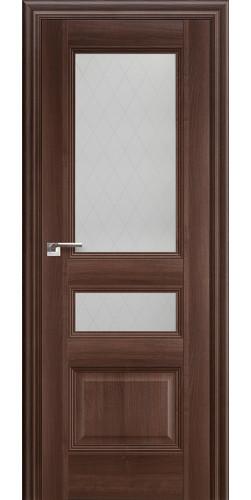 Дверь межкомнатная экошпон со стеклом 68Х цвет орех сиена