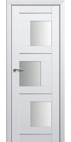 Дверь межкомнатная экошпон со стеклом 13U цвет аляска